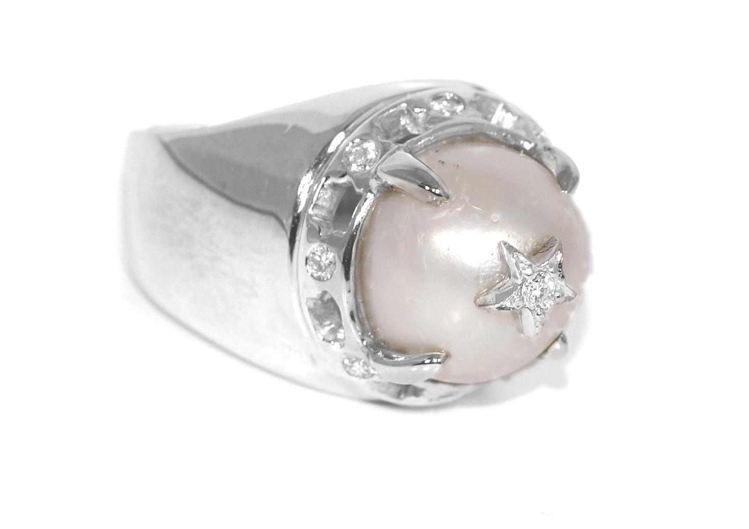"""Rock Star Pearl Ring"""