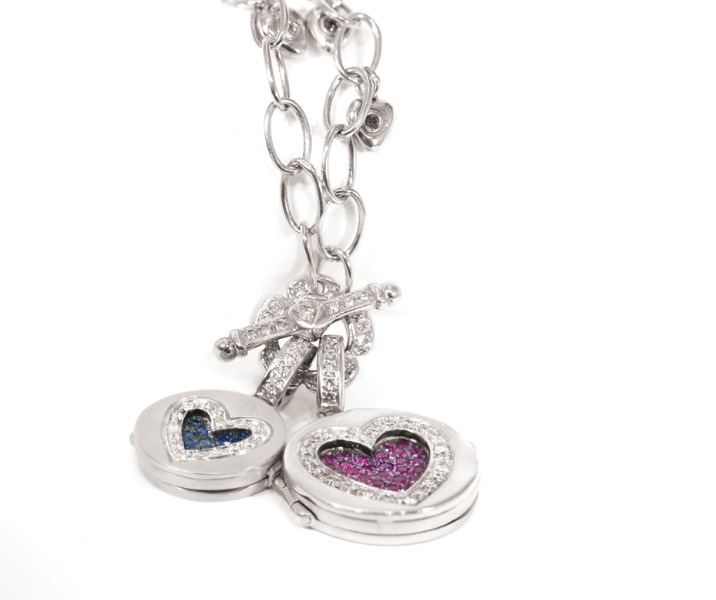 Pave' Love Locket Enhancers