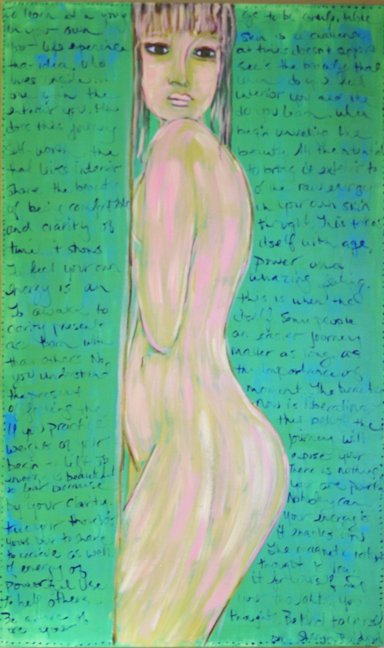 """""""Green Nude in Pose"""""""
