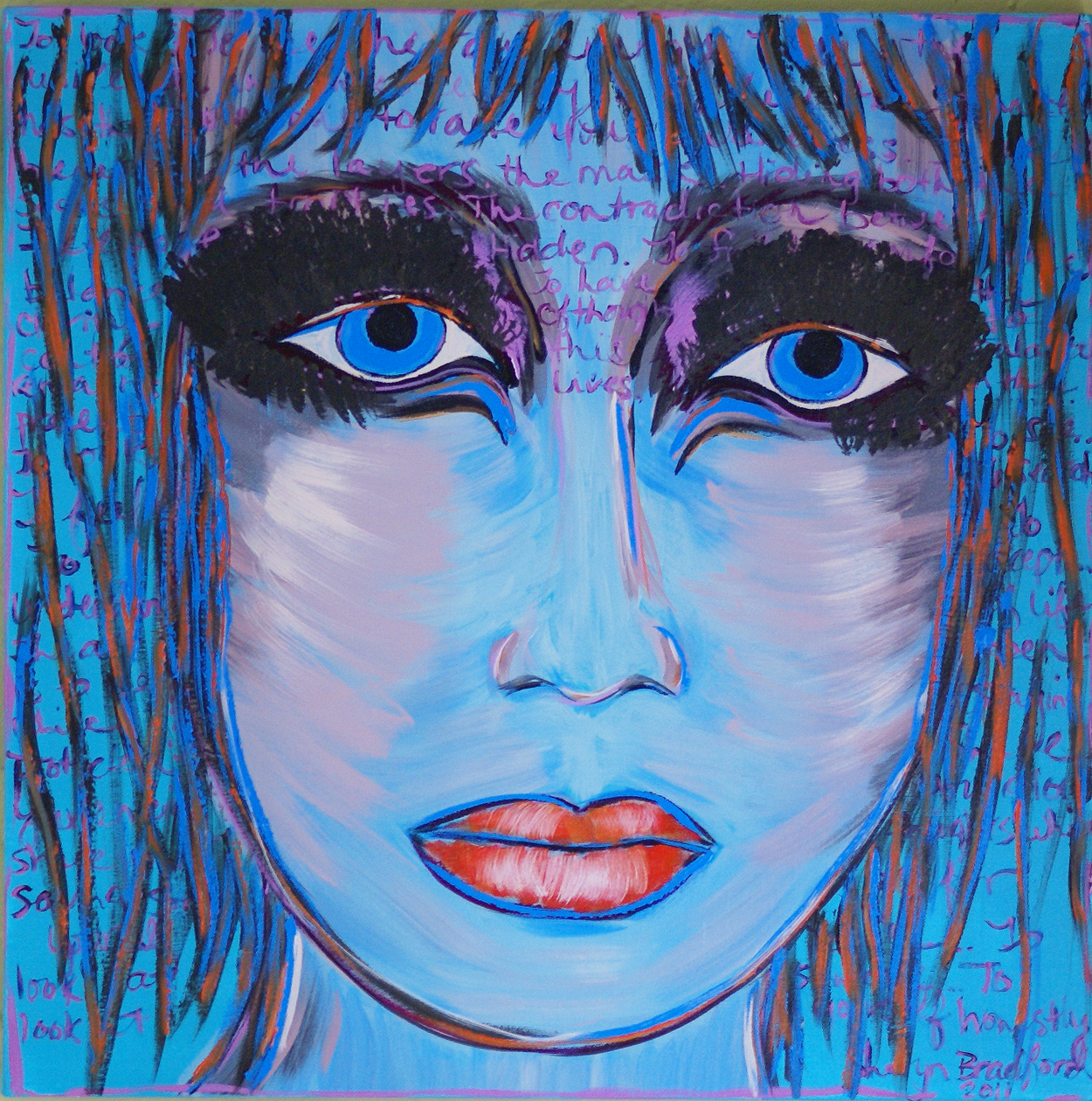 """""""Thoughts within a Blue Portrait"""""""