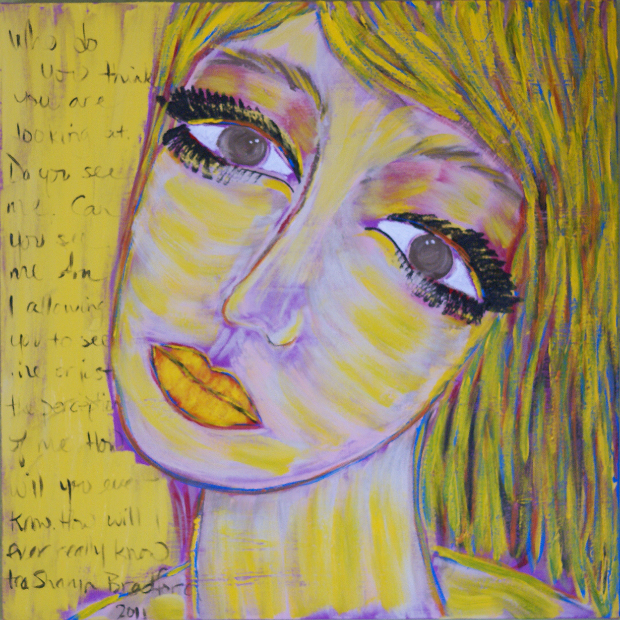 """""""Thoughts within a Yellow Portrait"""""""